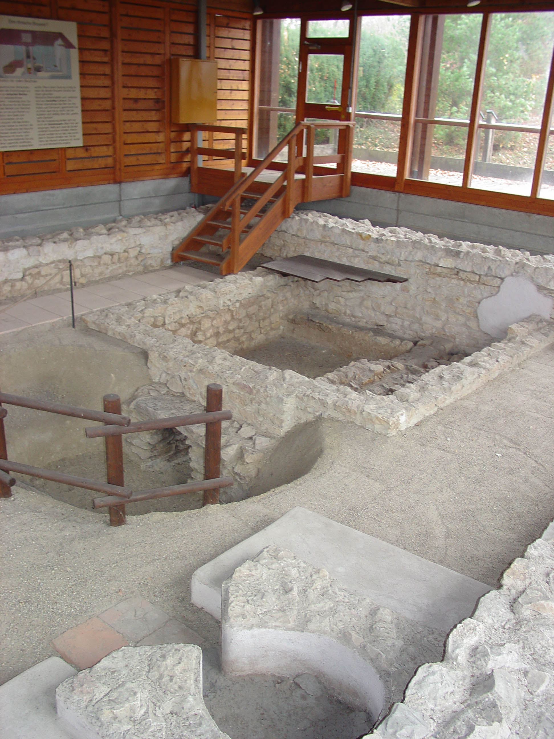 Excavated Roman brewery in Regensburg, Germany