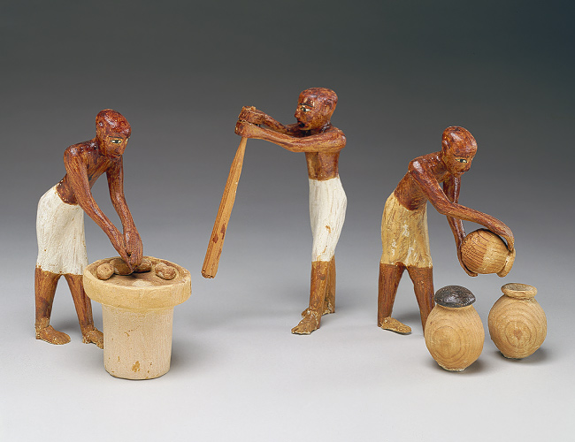 Wooden Statues found in tomb of Meketre, Egyptian Steward circa 2061-1995 BCE