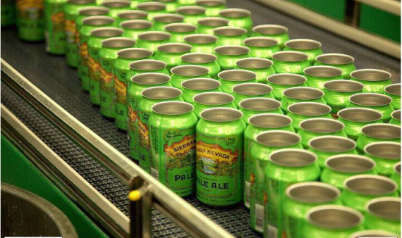 Perfect Segue! Sierra Nevada cans waiting to be filled. photo from beerstreetjournal.com